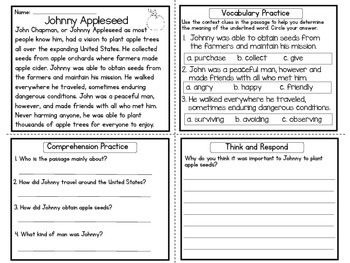 FREE Reading Comprehension Practice / Four in One / Upper Elementary