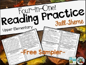 FREE Reading Comprehension Practice / Four in One / Upper