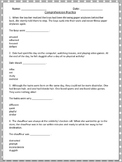 Reading Comprehension Practice Page