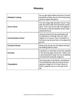 Reading Comprehension Practice Passage - Clouds