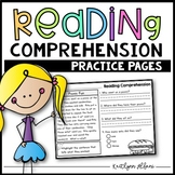 Reading Comprehension Practice Passages