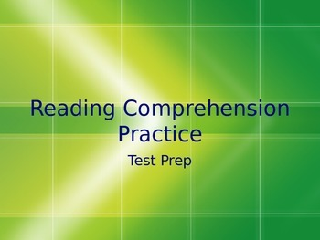 Reading Comprehension Practice Powerpoint