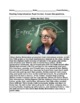 """Five ELL Reading Comprehension Questions - """"Bobby the Math Whiz"""" (Nonfiction)"""