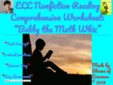 "Five ELL Reading Comprehension Questions - ""Bobby the Math"