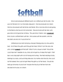 Reading Comprehension Practice: Softball
