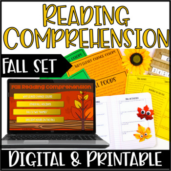 Fall Reading Comprehension Practice | Around the Room Activity