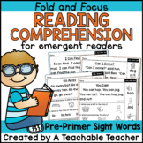 Reading Comprehension {Pre-Primer Sight Words}