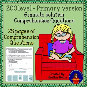 Reading Comprehension 200 level Primary 6 minute solution