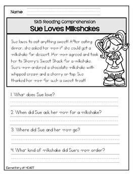 Close Reading Comprehension Printable Worksheets