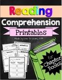 Reading Comprehension Printables for any Chapter Book