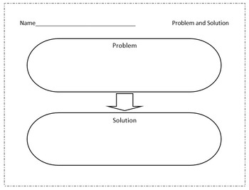 Reading Comprehension: Problem/Solution, Predictions, Parts graphic organizers