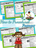 Reading Comprehension Procedural (How To) Text Evidence RI
