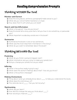 Reading Comprehension Prompts