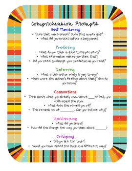 Reading Comprehension Promp... by Braidi Fredrickson | Teachers ...