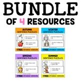 Reading Comprehension Activity Puzzles Bundle
