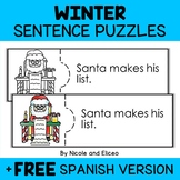 Winter Reading Comprehension Activity Puzzles