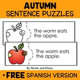 Fall Reading Comprehension Activity Puzzles