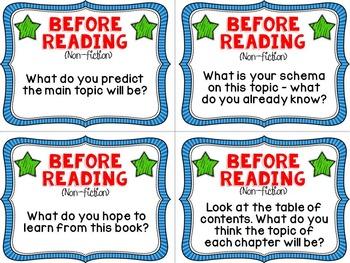 Reading Comprehension Conversation Cards