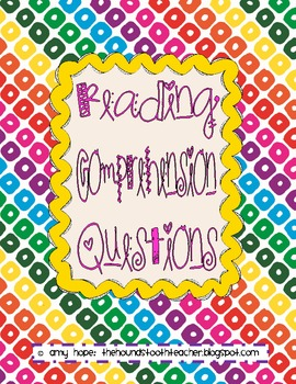 Reading Comprehension Question Cards Freebie