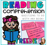 Reading Comprehension Question Cards for Any Book FREEBIE