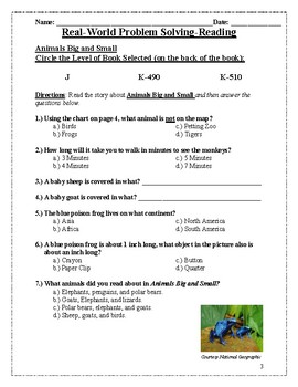 Reading Comprehension Question-Paired With McGraw Education (2nd Grade)