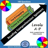 Reading Comprehension Question Spinners