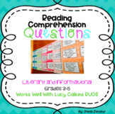 Reading Comprehension Question Stem Cards: Literary and In