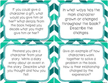 Reading Comprehension Questioning Cards