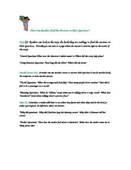Reading Comprehension:  Questioning Strategies to Improve Reading Comprehension