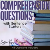 Comprehension Questions with Sentence Starters (Digital Ve