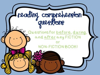 Reading Comprehension Questions Fiction & Non-Fiction (common core)