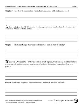 Reading Comprehension Questions   Clementine and the Family Meeting