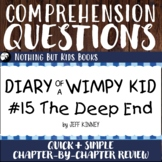 Reading Comprehension Questions   Diary of a Wimpy Kid #15