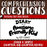 Reading Comprehension Questions   Diary of an Awesome Frie