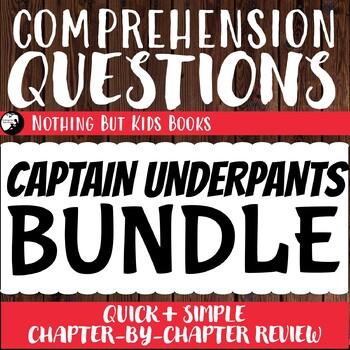 Reading Comprehension Questions Discount Bundle   Captain Underpants