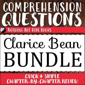 Reading Comprehension Questions Discount Bundle | Clarice Bean
