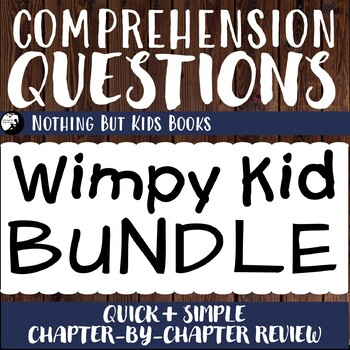 Distance Learning Comprehension Questions Bundle Diary Of A Wimpy Kid