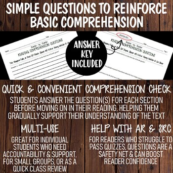 Distance Learning Comprehension Questions Bundle | Dory Fantasmgory