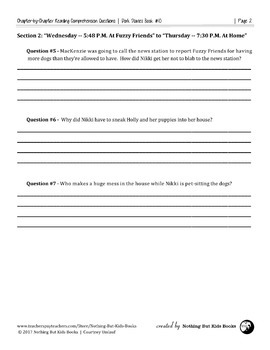 Reading Comprehension Questions   Dork Diaries #10