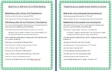 Reading Comprehension Questions- For Parents to Ask Their Children