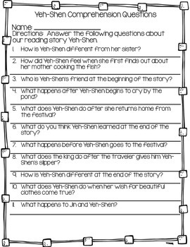 Reading Comprehension Questions Journey's Second Grade Unit 6