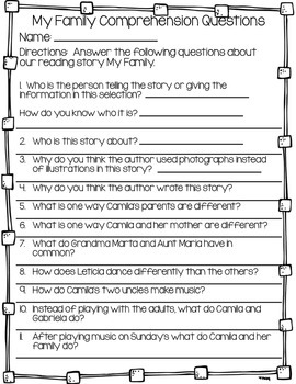 Reading Comprehension Questions Journey's Second Grade Unit 1
