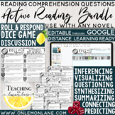 Reading Comprehension Questions BUNDLE Active Reading Strategies Editable