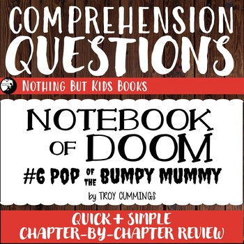Reading Comprehension Questions | Notebook of Doom #6