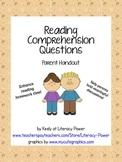 Reading Comprehension Questions Parent Handout