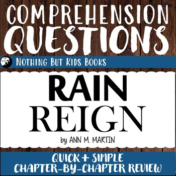 Reading Comprehension Questions | Rain Reign