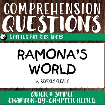 Reading Comprehension Questions | Ramona's World