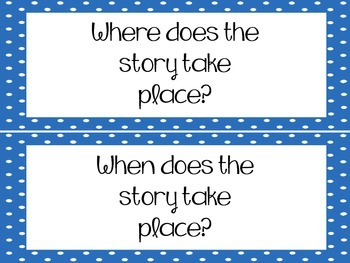 Reading Comprehension Questions - Strips {Blue} FREE!