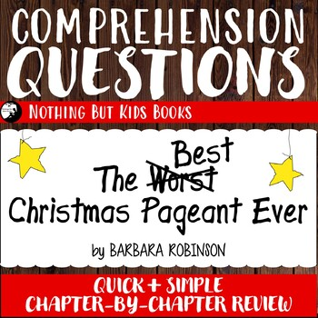 Reading Comprehension Questions | The Best Christmas Pageant Ever