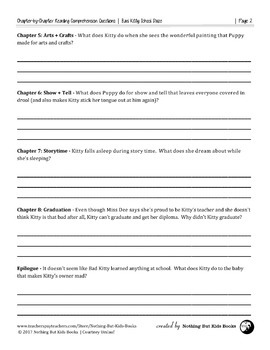 Reading Comprehension Questions   Bad Kitty School Daze